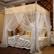 summer bed netting canopy mosquito net embroidery head bed curtain & frames king