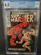 Sub-Mariner 8 CGC 6.0, Marvel Comics, Sub-Mariner Vs. Thing, 1968