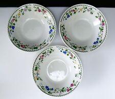 Farberware English Garden BOWLS SET OF 3 Coupe Soup Stoneware Flared Dish China