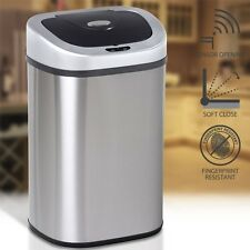 Large Double Dual Compartment Kitchen Recycling Paper Automatic Sensor Waste bin