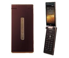 AU KDDI SHARP SHF32 AQUOS K ANDROID 4.4 FLIP PHONE CELL UNLOCKED AMBER NEW SHF31
