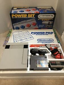 Nintendo NES POWER SET with Power Pad Console Complete in Box CIB