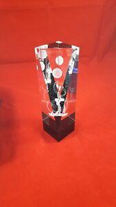 Golf Trophäe 3-D-Darstellung Acryl - in Originalverpackung  TOP Zustand