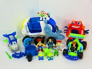 Imaginext Space Hauler Rover Toy Story Lot Alien Buzz Woody R/C Playset Lot