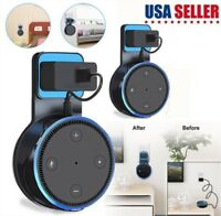 2 Pack Outlet Wall Mount Holder Cradle Stand For Amazon Echo Dot 2nd Generation