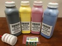 4 Toner Refill for Konica Minolta Bizhub C25 + 4 Chip (TNP27) (C25 - ONLY !!!)