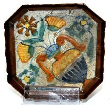 Antike Fliese Kachel  Orient Persien in Metallumrandung