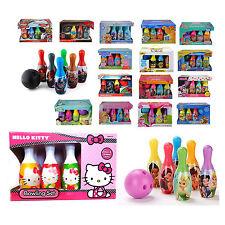 Kids Disney Bowling Set Skittles Pins Toy Indoor Outdoor Ball Game Fun Xmas Gift
