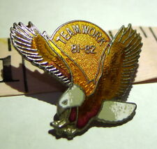 FOE Fraternal Order of Eagles Team Work Pin 1981  1982 Vintage  Soaring Eagle