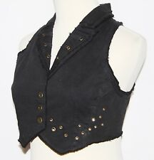 XS Gothic Goth Steam Punk Grunge Belly Dancing Tribal Hipie Gypsy Vest Top S 0
