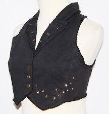 XS Gothic Goth Steam Punk Grunge Belly Dancing Tribal Hipie Gypsy Vest Top S 0
