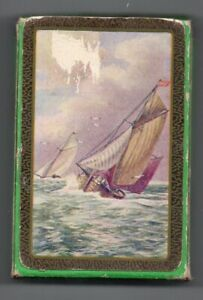 #U.001 Vintage Swap / Playing Card DECK- USED - Yachts at sea, Pompadour