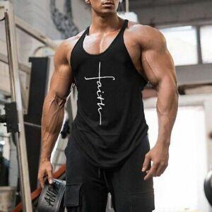 2021 Chaleco Camiseta Sin Mangas De Gimnasio Para Hombres Con Tirantes Fitness