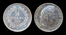 1/4 Franc 1842W Lille Louis Philippe 1er 91220 exemplaires  SPL - Argent 1.22 gr