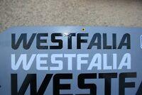 VW Bus T4 Westfalia 2 Stck. Weiss Aufkleber Dach Schriftzug California Coach