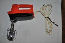 VINTAGE  ELECTRIC JC PENNEY RED  3  SPEED HAND MIXER WORKS