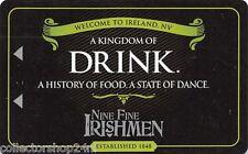 Hotel Key , Casino Card : New York New York - Nine Fine Irish Men - USA-04708