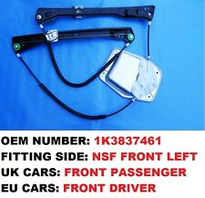 FRONT LEFT SIDE ELECTRIC WINDOW REGULATOR VW GOLF MK5 2/3 DOOR HATCHBACK/ESTATE