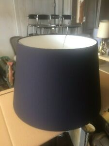 """Contemporary Pendant Hanging Drum Tapered Lamp shade w Diffuser 20"""" Black"""
