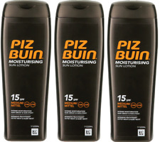 3x PIZ BUIN Moisturising Sun Lotion  15SPF 200ml