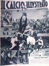 IL Calcio Illustrato 11/01/1951 Forza Genoa - Inter Torino 3-1  [GS35]