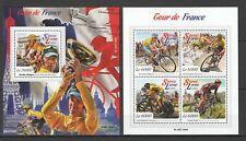ST526 2015 SIERRA LEONE SPORT CYCLING TOUR DE FRANCE 1KB+1BL MNH STAMPS
