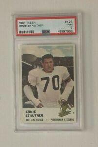 1961 Pittsburgh Steelers Fleer PSA 7 Ernie Stautner #125