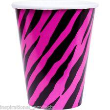 Amscan 8 Pack Pink Zebra Print tan fabuloso papel tazas de beber 9oz Mesa de fiesta