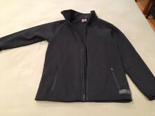 burton Snowboard Jacket Fleece Black Zip Up Sweater Large