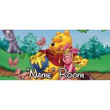 Winnie The Pooh Personalised Bedroom Door Sign / Plaque – Any Text/Name (1)