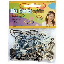 250 mini élastiques à cheveux - noir & blanc polyuréthane - mini hair elastics