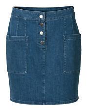 Oliver Bonas Women Denim Blue Mini Skirt