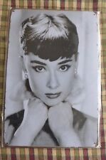Audrey Hepburn Metal Sign Painted Poster Garage Superhero Wall Decor Art B*