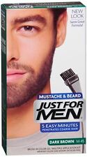 JUST FOR MEN Color Gel Mustache - Beard M-45 Dark Brown 1 Each (Pack of 5)