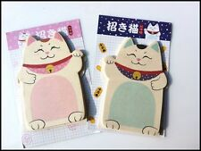 Japan Lucky Cat Beckoning Cat: Post-it Memo paper pad desktop sticky notes flags