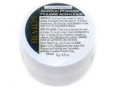 2 - Acrylic Nail Powder by Revlon Clear Manicure Fingernail Art NEW Sealed