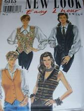NEW LOOK #6113 - LADIES ( EASY 2-HOUR - 4 STYLE  ) LINED VEST PATTERN  6-16 FF