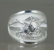 USMC US Marine Corps Fleet Marine Force.925 solid  licensed size 10 ring