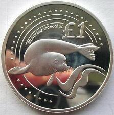 Cyprus 2005 Monachus 1 Pound Silver Coin,Proof