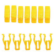 20Pcs Auto Car Yellow Plastic 8mm Hole Rivet Hood Prop Rod Support Clip Fastener