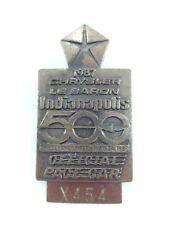 1987 Indianapolis 500 Bronze Pit Badge Al Unser Penske Racing Chrysler LeBaron