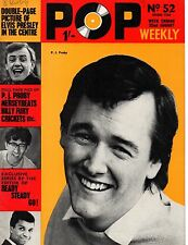 Pop Weekly Magazine 22 August 1964 P.J. Proby John Leyton Cilla Black Billy Fury