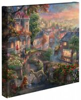 Thomas Kinkade Studios Lady and the Tramp 14 x 14 Wrapped Canvas