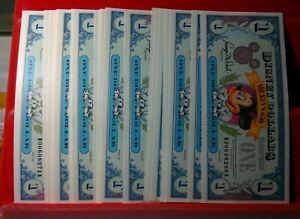 1993 Disney Dollars - Lot of 36 - Mickey's 65th - 36 CONSECUTIVE UNCS