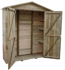 Armadio in legno impregnato 195x61x h.210 cm. con tetto, pavimento e ripiani