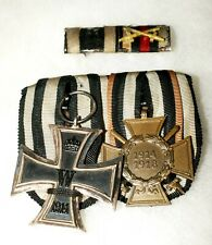 Wwi German Ribbon Bar and Medal Bar Iron Cross and War Honor Ko