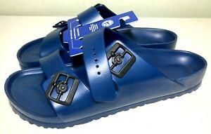 Birkenstock Unisex Arizona Essentials EVA Blue Sandals Mens Sz 12 EU 45 Slip On