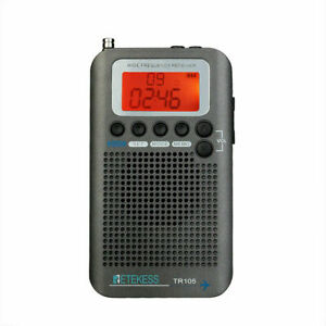 Retekess TR105 Portable FM/AM/SW/Air Band Radio Receiver LCD Display Walkman US