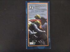 Hollywood Park Program Guide June 12, 2002 - As Is - 1 Owner