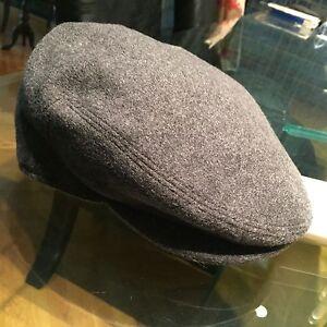 Seifter Associates Framar Cabbie Hat Newsboy Cap Grey Wool Cashmere 6 7/8 S 55
